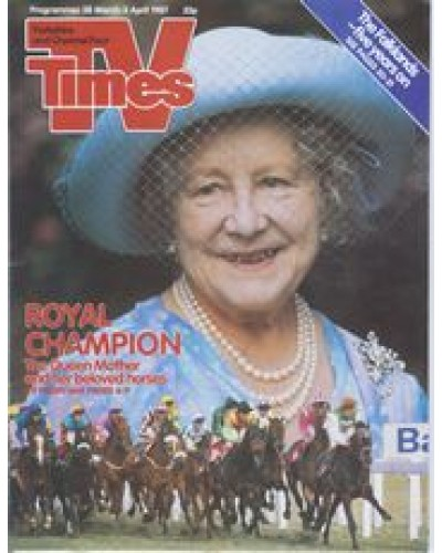 TVT 1987/14 - 28 March-3 April 1987 (HTV and C4) ROYAL CHAMPION - Queen Elizabeth the Queen Mother