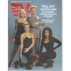 TVT 1987/50 - 5-11 December 1987 (Thames/LWT and C4) JIM DAVIDSON COMEDY PACKAGE (ITV) Jim Davidson, Patsy Kensit, Pepsi & Shirlie