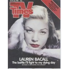 TVT 1985/29 - 13-19 July 1985 (TSW and C4) YOU KNOW HOW TO WHISTLE - Lauren Bacall.