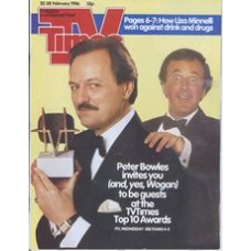 TVT 1986/09 - 22-28 February 1986 (TVS and C4) TV TIMES TOP 10 AWARDS - Peter Bowles, Terry Wogan.