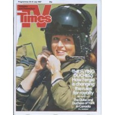 TVT 1987/31 - 25-31 July 1987 (Central and C4) THE DUKE AND DUCHESS OF YORK IN CANADA - Duchess of York in flying helmet