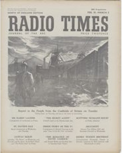 RT 1424 - February 23, 1951 (Feb 25-Mar 3) (Northern Ireland) TAKING STOCK - Report to the People from the Coal fields of Britain. With cover drawing (by Denis James) of a mine