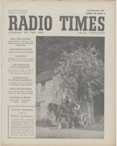 RT 1385 - April 28, 1950 (Apr 30-May 6) (Scotland) COUNTRY MAGAZINE - Eighth Anniversary - with photo of two countrymen with horse and cart.