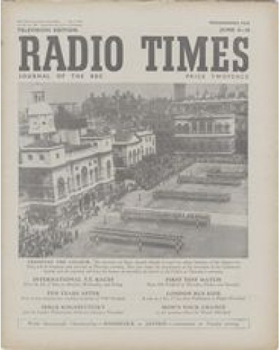 RT 1390 - June 2, 1950 (Jun 4-10) (Northern Ireland) TROOPING THE COLOUR - with cover photo of soldiers marching.