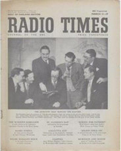 RT 1426 - March 9, 1951 (Mar 11-17) (Scotland) THE QUESTION-MASTERS' CLUB with cover photo of Lionel Hale, Wynford Vaughan Thomas, John Snagge, Michael Barsley, Lionel Gamlin, Gilbert Harding & Robert MacDermot