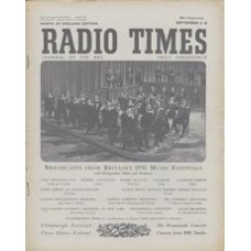 RT 1451 - August 31, 1951 (Sep 2-8) (Scotland) EDINBURGH FESTIVAL / THREE CHOIRS FESTIVAL / THE PROMENADE CONCERTS / CONCERTS FROM BBC STUDIOS - with photo of an orchestra