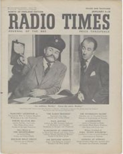 RT 1521 - January 2, 1953 (Jan 4-10) (London) TAKE IT FROM HERE with cover photo of Jimmy Edwards and Dick Bentley.