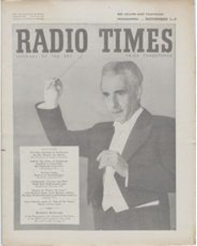RT 1564 - October 30, 1953 (Nov 1-7) (Wales) BBC SYMPHONY ORCHESTRA Guest conductor, Rudolf Schwarz.