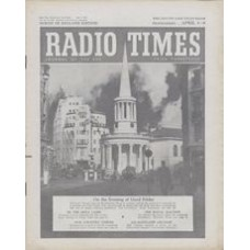 RT 1638 - April 1, 1955 (Apr 3-9) HOLY WEEK / THE CRUCIFIXION with photo of All Souls' Church and Broadcasting House.