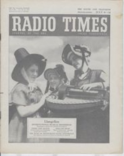 RT 1704 - July 6, 1956 (Jul 8-14) INTERNATIONAL MUSIC EISTEDDFOD - with photo of Welsh girls in national costume