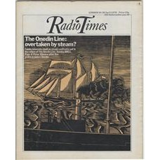 RT 2737 - 22 April 1976 (24-30 Apr) THE ONEDIN LINE overtaken by steam? Cover illustration (by Nigel Holmes) of a sailing ship.