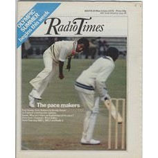RT 2742 - 27 May 1976 (29 May-4 Jun) OLYMPICS / FIRST TEST: England v West Indies. With cover photo of fast bowler Andy Roberts in action.