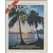 RT 2880 - 18 January 1979 (20-26 January) RADIO ISSUE / CARIBBEAN EVENING with cover photo of  palm trees and sea.