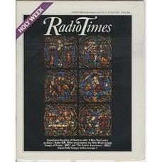 RT 2996 - 11-17 April 1981 (North West) HOLY WEEK / A MAN THAT LOOKS ON GLASS (Radio 4UK) with cover photo of a stained glass window.