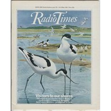 RT 3001 - 16-22 May 1981 (Northern Ireland) BIRDWATCH (BBC1) with cover illustration (by Robert Gillmor) of avocets.
