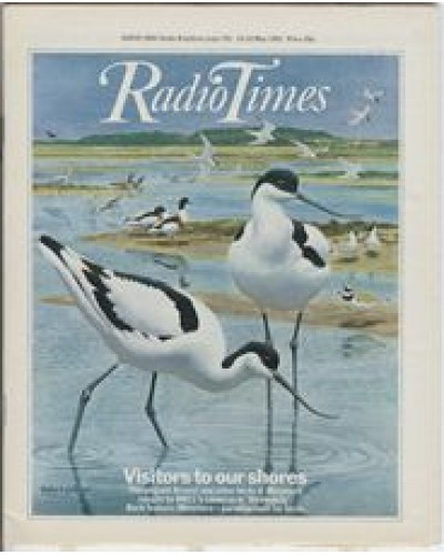 RT 3001 - 16-22 May 1981 BIRDWATCH (BBC1) with cover illustration (by Robert Gillmor) of avocets.