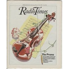 RT 3009 - 11-17 July 1981 FIRST NIGHT OF THE PROMS (Radio 3 & BBCtv) with cover illustration (by Glynn Boyde-Harte) of a violin