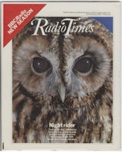 RT 3089 - 22-28 January 1983 BBC Radio New Season YEAR OF THE OWL (Radio 4UK) with cover photo of an owl.