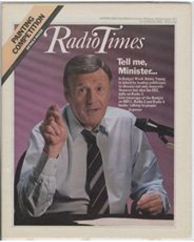 RT 3096 - 12-18 March 1983 JIMMY YOUNG photo (Radio 2) In Budget Week... / NATIONWIDE BUDGET SPECIAL (BBC1)