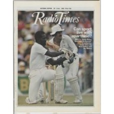 RT 3111 - 25 June-1 July 1983 (National Edition) WORLD CUP CRICKET West Indian Collis King and South Africa's Ray Jennings / SOUTH AFRICA, SPORT AND THE BOYCOTT A Tuesday Documentary / WIMBLEDON second week.