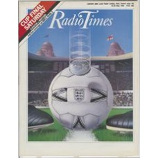 RT 3158 - 19-25 May 1984 FA CUP FINAL (BBC1, Radio2) Everton v Watford - with cover (by Mark Thomas) of a football.