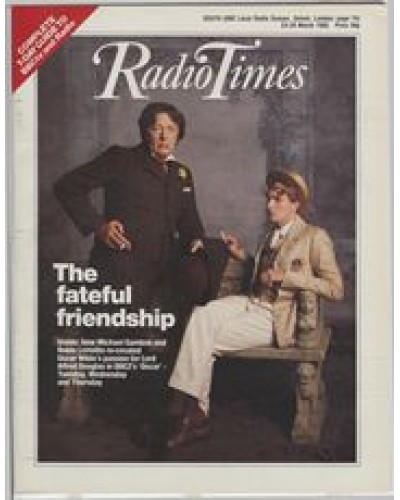 RT 3201 - 23-29 March 1985 (South West) OSCAR (BBC2) with cover photo of Michael Gambon and Robin Lermitte.