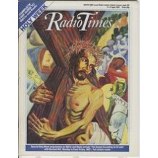 RT 3307 - 11-17 April 1987 HOLY WEEK / ENGLAND'S NAZERETH Cover illustration (by Ashley Potter) of Christ carrying the cross.