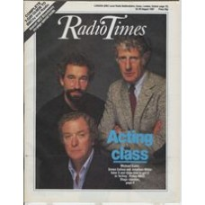 RT 3326 - 22-28 August 1987 (South West) ACTING (BBC2) with cover photo of Michael Caine, Simon Callow & Jonathan Miller.