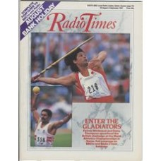RT 3327 - 29 August-4 September 1987 WORLD ATHLETICS CHAMPIONSHIPS in Rome. Fatima Whitbread & Daley Thompson / AUGUST BANK HOLIDAY