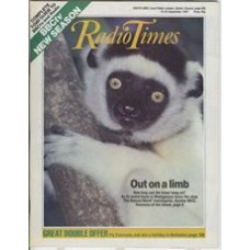 RT 3330 - 19-25 September 1987 (East) THE NATURAL WORLD Spirits of the Forest (BBC2) With cover close-up photo of a lemur.
