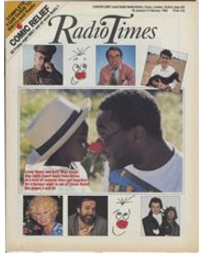 RT 3348 - 30 January-5 February 1988 COMIC RELIEF (BBC1 / Radio 1) Lenny Henry and other comedy stars.