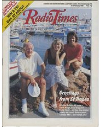 RT 3349 - 6-12 February 1988 HOLIDAY 88 (BBC1) Frank Bough, Anne Gregg and Kathy Tayler.