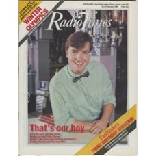 RT 3351 - 20-26 February 1988 EASTENDERS Third Birthday Souvenir. Nick Berry.