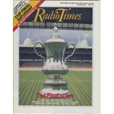 RT 3363 - 14-20 May 1988  GRANDSTAND (BBC1 & Radio 2) FA Cup Final - Liverpool v Wimbledon - with cover photo of the cup and Wembly Stadium.
