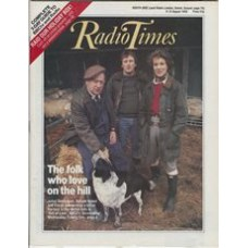 RT 3375 - 6-12 August 1988 ScreenPlay OUT OF LOVE (BBC2) with cover photo of Juliet Stevenson, Dafydd Hywel and Emrys James.