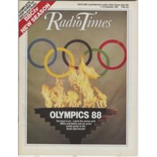 RT 3381 - 17-23 September 1988 OLYMPICS 88 - Seoul. Cover illustration of Olympic rings and fire.