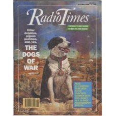 RT 3413 - 6-12 May 1989 INSIDE STORY: ANIMALS IN WAR - Killer dolphins, pigeon postmen, and, yes, The Dogs of War - with cover cover illustration of a collie on the battlefield.