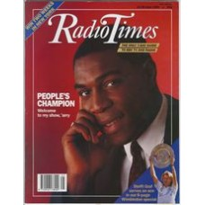 RT 3420 - 24-30 June 1989 PEOPLE Frank Bruno - this year's host / WIMBLEDON small photo of Steffi Graf.