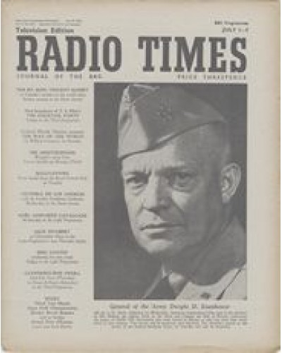 RT 1442 - June 29, 1951 (Jul 1-7) (Television Edition) SERVICE / ENGLISH-SPEAKING UNION DINNER - with photo of Eisenhower