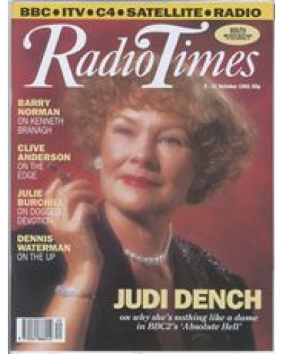 RT 3537 - 5-11 October 1991 Performance ABSOLUTE HELL (BBC2) with cover photo of  Judi Dench