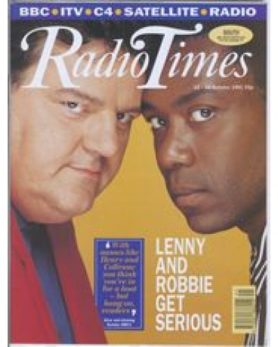RT 3538 - 12-18 October 1991 Screen One: ALIVE AND KICKING  with cover photo of  Robbie Coltrane & Lenny Henry