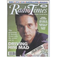RT 3540 - 26 October-1 November 1991 40 MINUTES Autogedden (BBC2) with cover photo of  Jeremy Irons