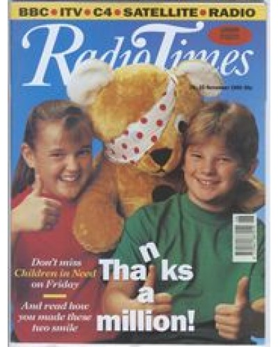 RT 3543 - 16-22 November 1991 CHILDREN IN NEED with cover photo of  two children and a teddy bear.