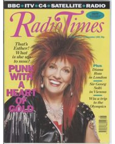 RT 3545 - 30 November-6 December 1991 HEARTS OF GOLD with cover photo of   Esther Rantzen, as a punk