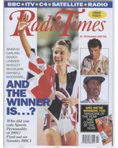 RT 3547 - 14-20 December 1991 SPORTS REVIEW OF THE YEAR (BBC1) last year's winner; Graham Gooch; Will Carling.
