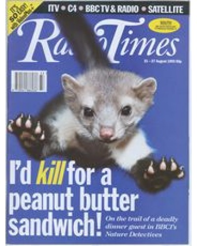 RT 3633 - 21-27 August 1993 (North East) NATURE DETECTIVES (BBC1) Cover photo of a pine marten