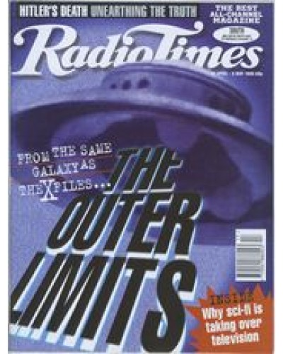 RT 3719 -  29 Apr-5 May 1995 (South) THE OUTER LIMITS (BBC2) - with cover image of a UFO