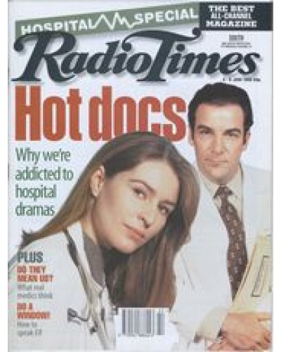 RT 3724 - 3-9 June 1995 (South West) Hospital Special: Hotdocs - why we're addicted to hospital dramas - with photo of cast members from CARDIAC ARREST and CHICAGO HOPE