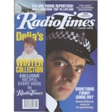 RT 3747 - 11-17 November 1995 THE THIN BLUE LINE (BBC1) with cover photo of  Rowan Atkinson