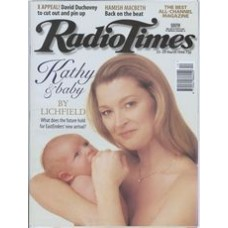 RT 3765 - 23-29 March 1996 (Midlands) EASTENDERS (BBC1) Gillian Taylforth (Kathy) and baby.